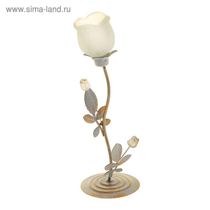 "Подсвечник 1 свеча ""Белая роза"""