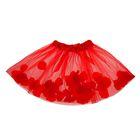 Карнавальная юбка с лепестками роз 4-6 лет, цвет красный