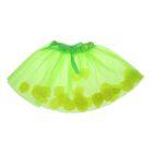 Карнавальная юбка с лепестками роз 4-6 лет, цвет зеленый