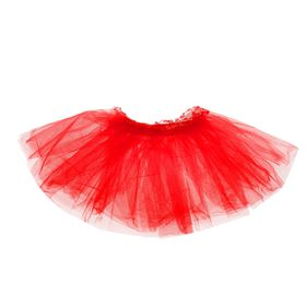 """Carnival skirt """"Volume"""" 5 layers 4-6 years, color red"""