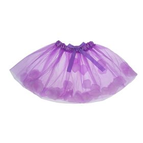 Carnival skirt with rose petals 4-6 years, color purple