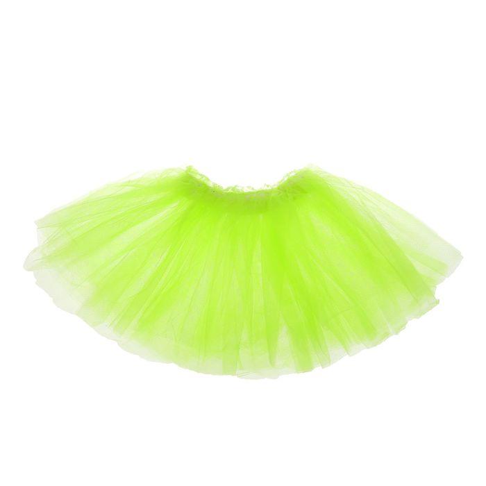 Карнавальная юбка «Объем», 5 слоёв, 4-6 лет, цвет салатовый