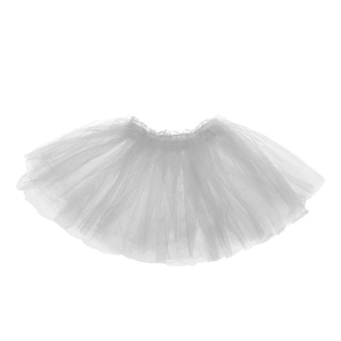 Карнавальная юбка «Объем», 5 слоев, 4-6 лет, цвет белый