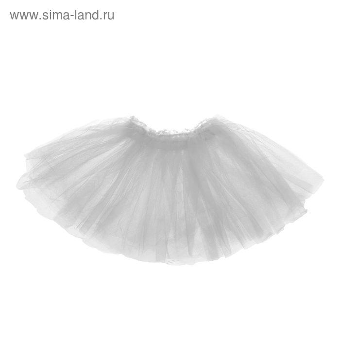"""Карнавальная юбка """"Объем"""" 5 слоев 4-6 лет, цвет белый"""