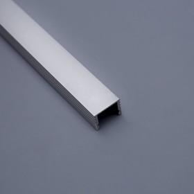 Профиль ЛП-12 алюминиевый анодированный 12*16*2000 серебро