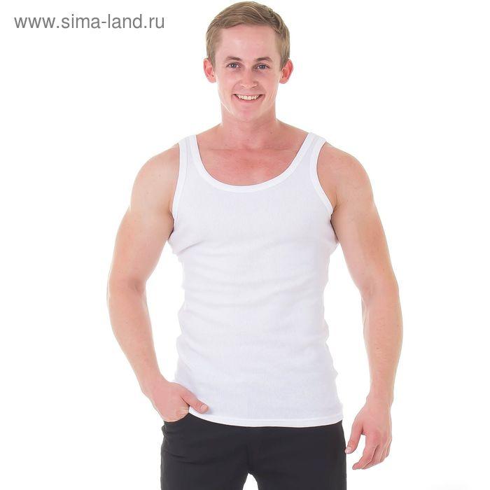 Майка мужская Classic rib, цвет белый, размер 54 (7) (арт. BU22201)