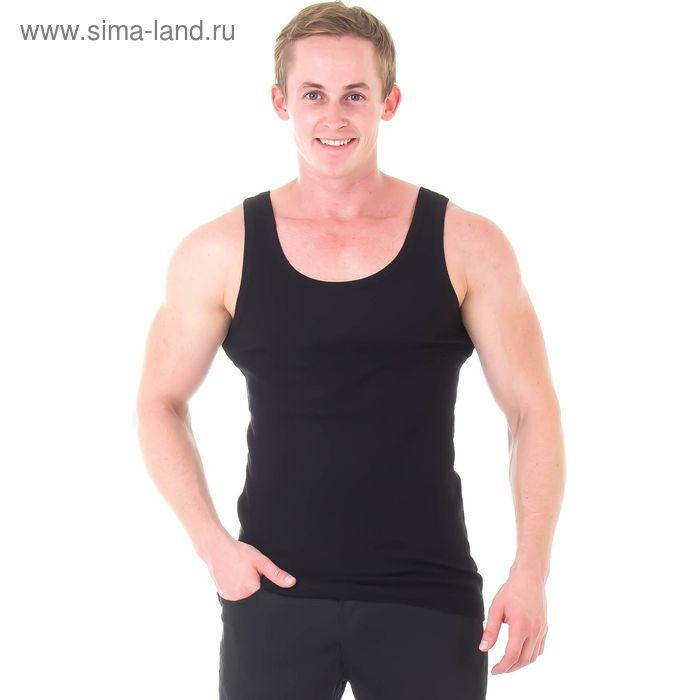 Майка мужская Classic rib, цвет чёрный, размер 54 (7) (арт. IBU22201)