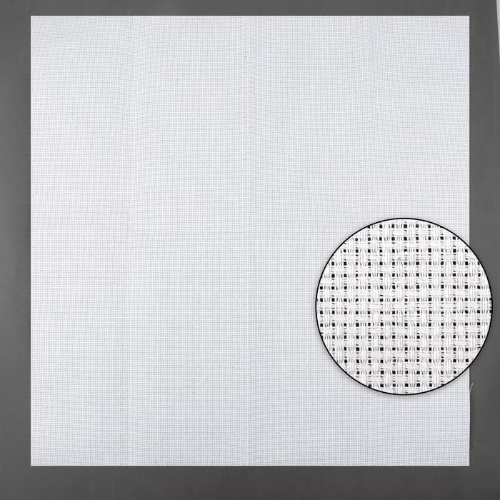Канва для вышивания, №14, 50 × 50 см, цвет белый