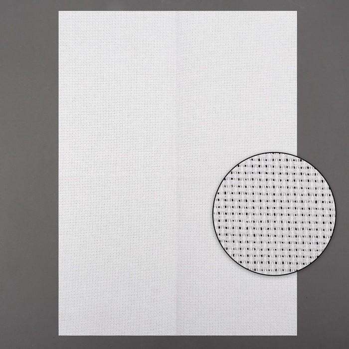 Канва для вышивания, №14, 30 × 40 см, цвет белый