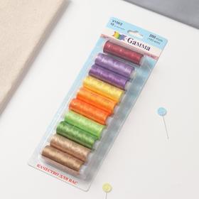 Нитки для вышивания №2, 183 м, 10 шт, цвет разноцветный