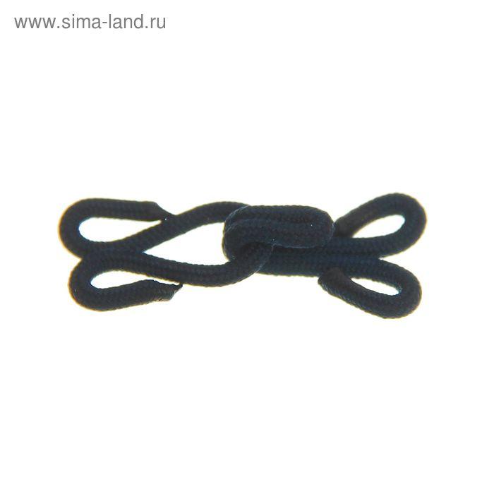 Крючки шубные обтяжные, 10шт, цвет чёрный