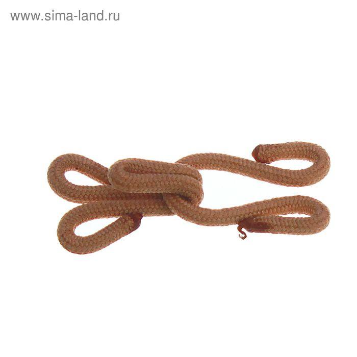 Крючки шубные обтяжные, 10шт, цвет светло-коричневый