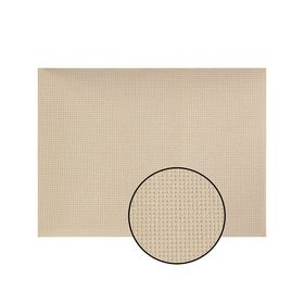 Canvas for embroidery, No. 14, 30 × 40 cm, color beige.