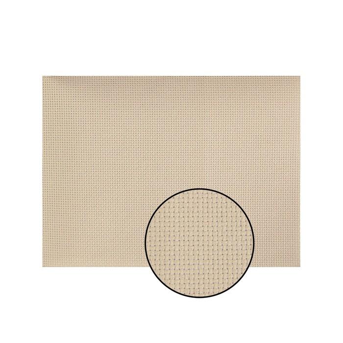 Канва для вышивания, №14, 30х40см, цвет бежевый