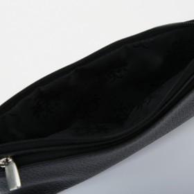 Кошелёк женский, 2 отдела на молнии, цвет чёрный - фото 58956