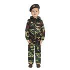 Карнавальный костюм «Спецназ», куртка с капюшоном, брюки, берет, рост 104 см