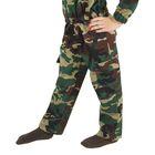 Карнавальный костюм «Спецназ», куртка с капюшоном, брюки, берет, рост 104 см - фото 106540167