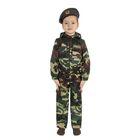 """Карнавальный костюм """"Спецназ"""", куртка с капюшоном, брюки, берет, рост 116 см"""