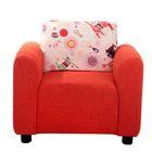 Кресло ASTRA 111 (морковный), CAT 01 (бежевый), 59х55х47см, двп/дсп, поролон, меб.ткань