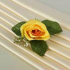 Бутоньерка «Роза», жёлтая