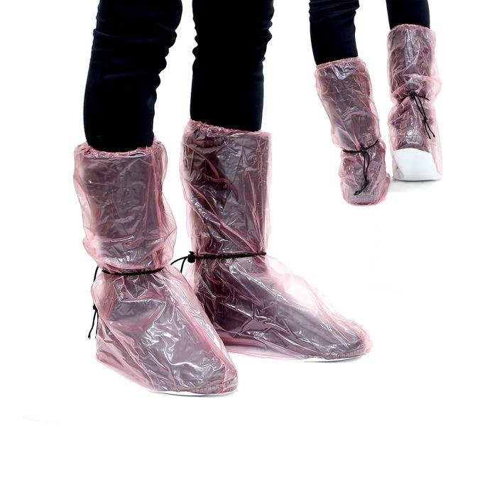 """Чехлы для обуви """"Непромокайка"""", длина стопы 26см, розовые"""