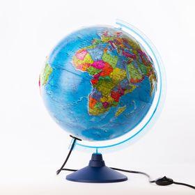 Глобус политический рельефный «Классик Евро», диаметр 320 мм, с подсветкой