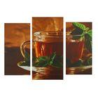 """Модульная картина на подрамнике """"Чай"""", 2 шт. — 25,5×50,5 см, 30,5×60 см, 60×100 см"""