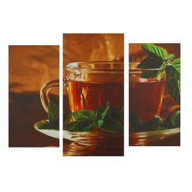 "Картина модульная на подрамнике ""Чай""  2шт-25,5*50,5см, 30,5*60см,  60х100 см"