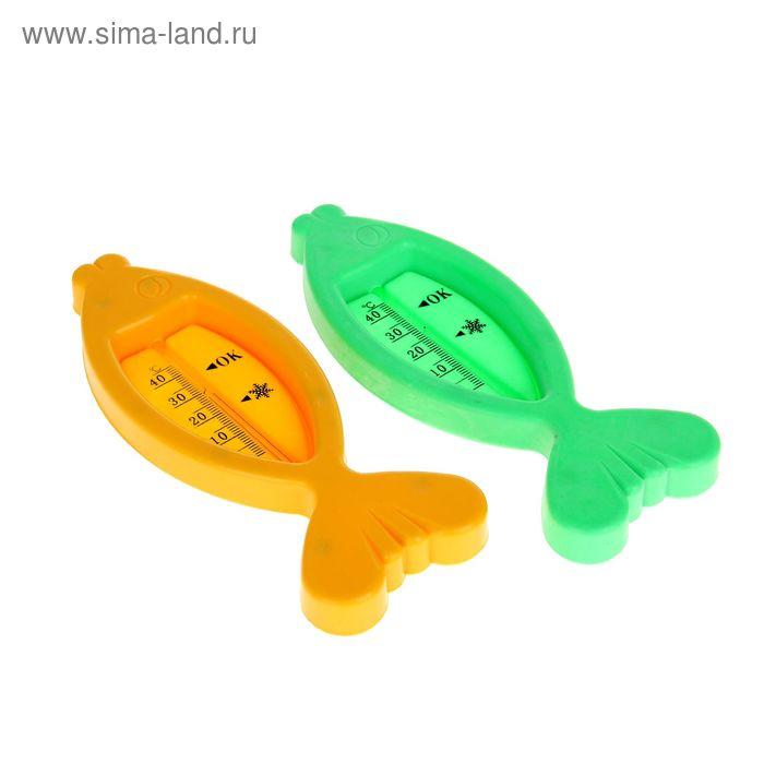 Термометр для ванны «Рыбка», цвета МИКС