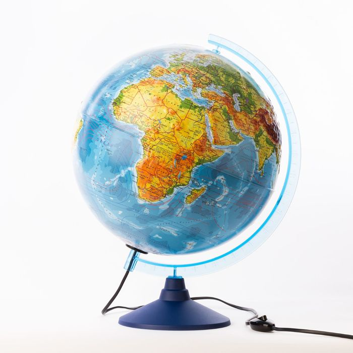 Глобус физико-политический рельефный «Классик Евро», диаметр 320 мм, с подсветкой, Крым в составе РФ
