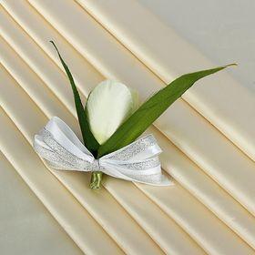 Бутоньерка «Тюльпан», белая Ош