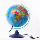 Глобус политический рельефный «Классик Евро», диаметр 250 мм, с подсветкой