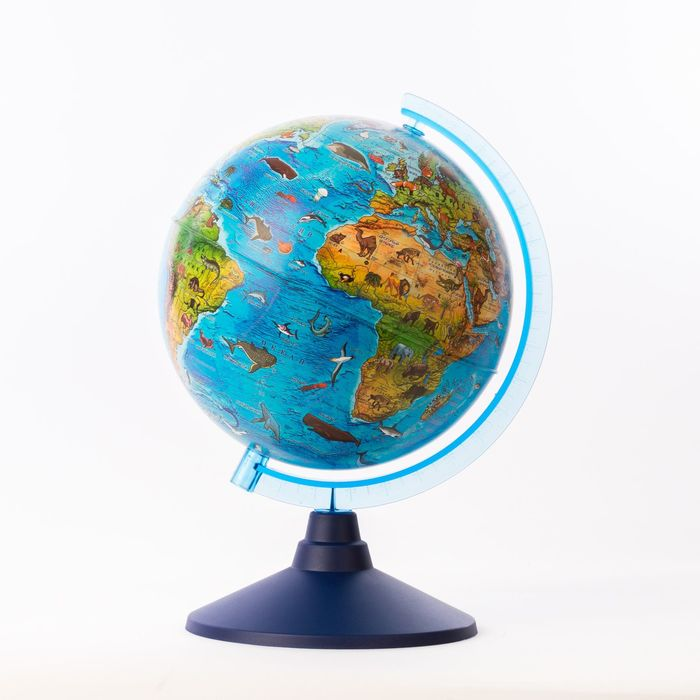 Глобус зоогеографический детский, «Классик Евро», диаметр 210 мм