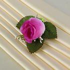 Бутоньерка «Роза», фиолетовая