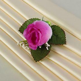 Бутоньерка «Роза», фиолетовая Ош