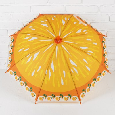 "Umbrella baby semi-automatic ""Orange"", with whistle, r=39cm, color: orange"