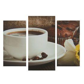 """Картина модульная на подрамнике """"Кофе"""" 2шт-25,5*50,5см, 30,5*60см, 60х100 см"""