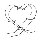 """Подставка для цветов d=8 см """"Сердце-4"""", цвет черный"""