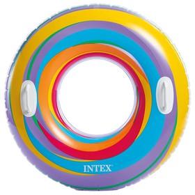 Круг для плавания «Яркие звёзды», d=91 см, от 9 лет, цвета МИКС, 59256NP INTEX