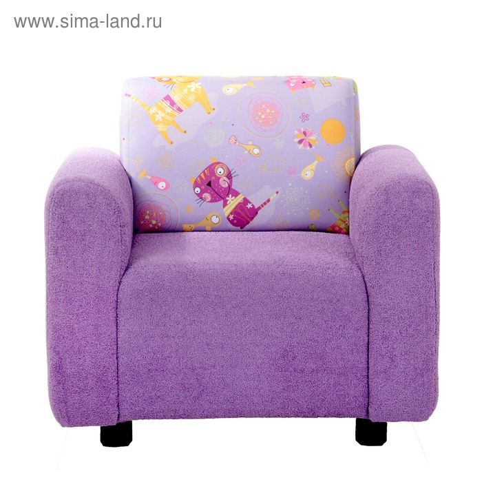 Кресло детское астра140/кот2 компаньон, 59х55х47см, двп/дсп, поролон, меб.ткань