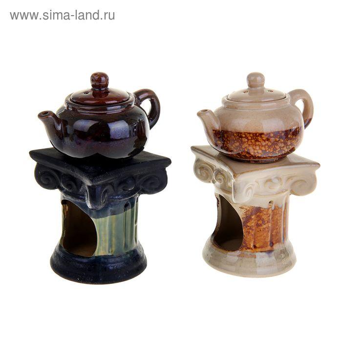 "Аромалампа ""Чайничек на колонне"" шамот МИКС"