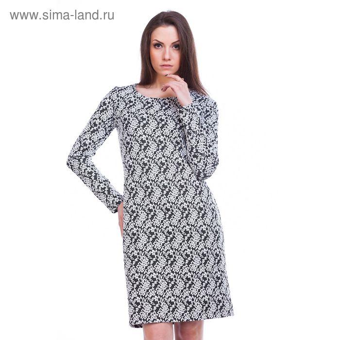 """Платье женское """"Адажио"""", рост 158-164 см, размер 50, цвет серый (арт. MJ242378/01)"""