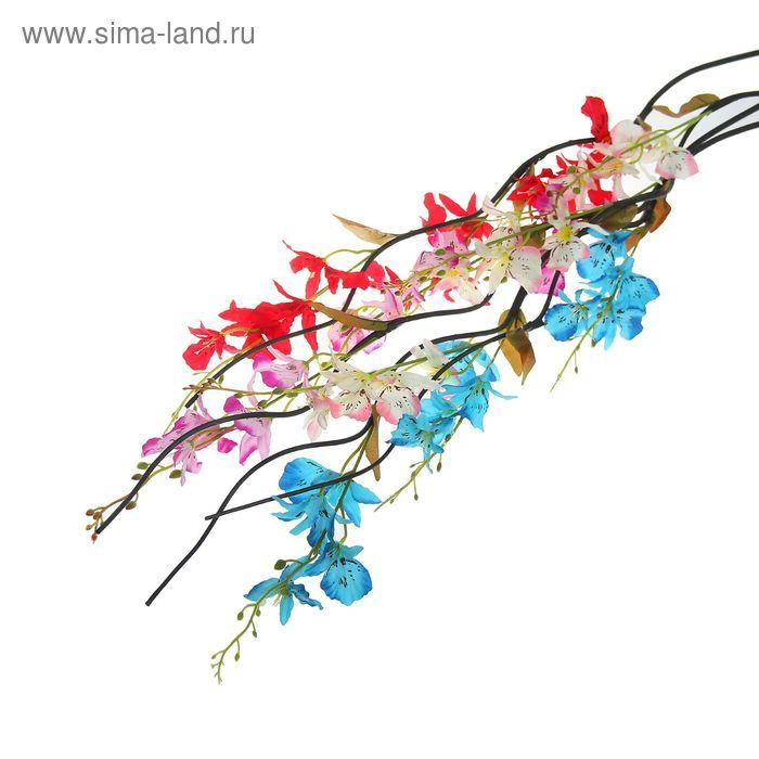 """Декоративная ветка """"Лоза с орхидеями"""" микс"""