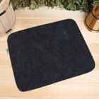 Коврик для бани и сауны «Классический», серый, 47 × 38 см