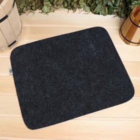 Коврик для бани и сауны «Классический», серый, 47 × 38 см Ош