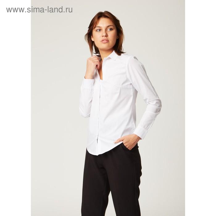 Рубашка женская Collorista, размер L (48), цвет белый, хлопок 65% + п/э 35%