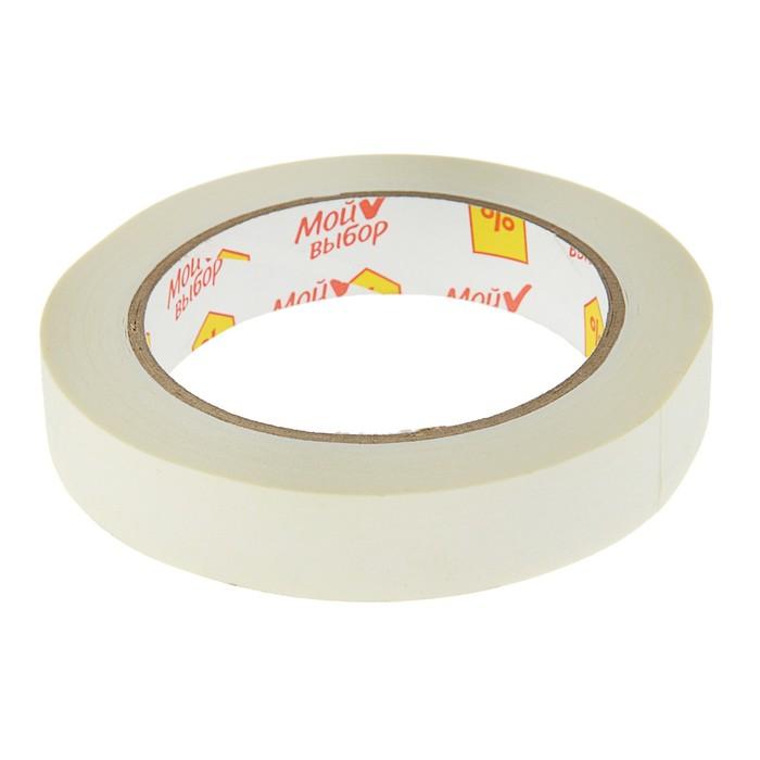 Клейкая лента малярная 19 мм * 40метр * 60°C, клей на водной основе