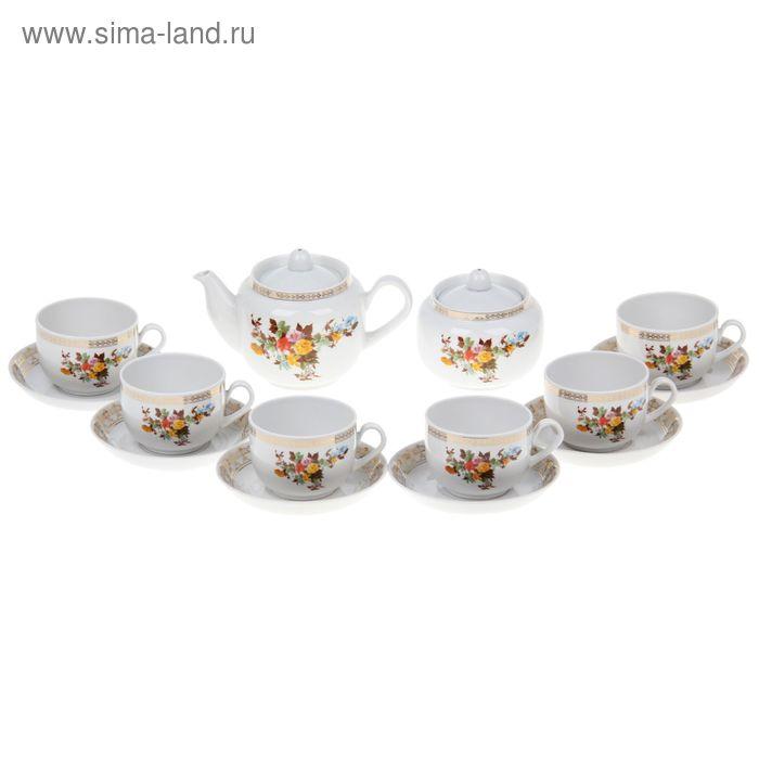 """Сервиз чайный 14 предметов 6 персон """"Беседка в саду"""""""