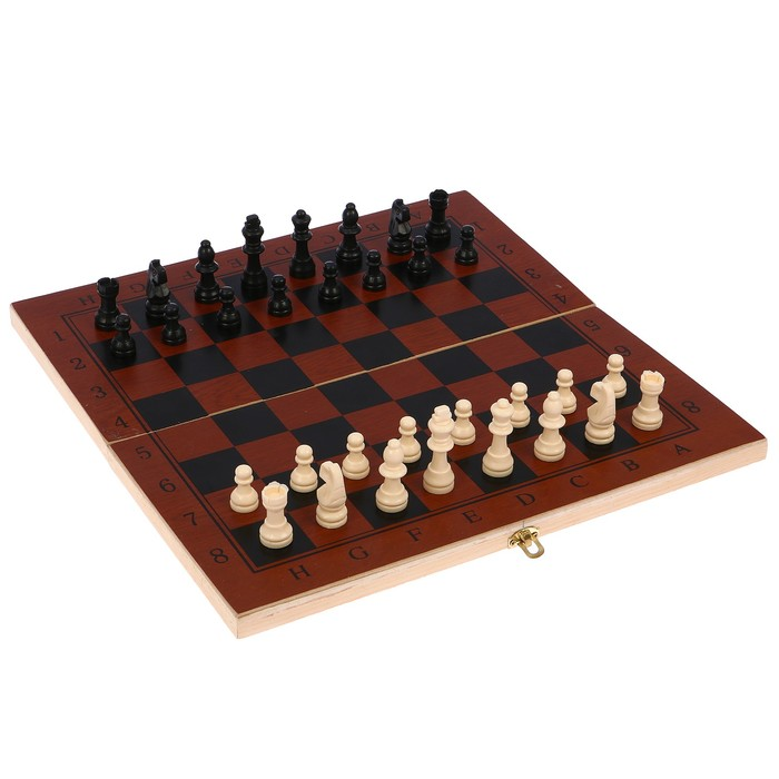 "Настольная игра 3 в 1 ""Гравар"": шахматы, шашки, нарды, 34х34 см"