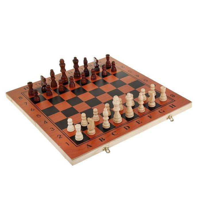 "Настольная игра 3 в 1 ""Гравар"": шахматы, шашки, нарды, 39х39 см"